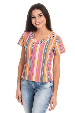 2562 e34 tpd 2962 blusa feminina listrada com renda p a gg