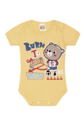 7325 amerelo body infantil masculino menino