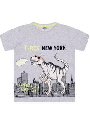 7381 mescla camiseta infantil masculina t rex