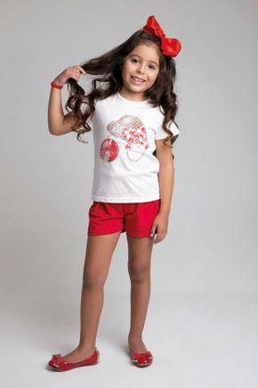 6224 conjunto blusa natural meia malha e shorts moletinho 46810 6