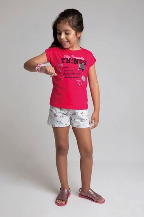 6213 conjunto blusa pink meia malha shorts 46810