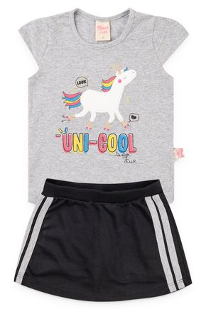 6197 conjunto blusa cotton e shorts saia moletinho 123 8