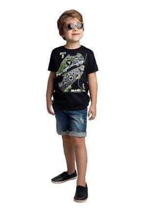 6077 camiseta preto avulsa meia malha 46810