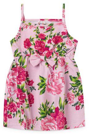2086 vestido de alcinha infantil estampado floral flores 1