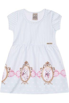 7449 verde listrado vestido infantil estampado