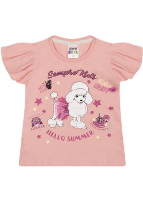 7329 rosa blusa intanil menina cachorro pudle