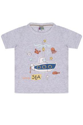 7344 mescla camiseta intantil submarino