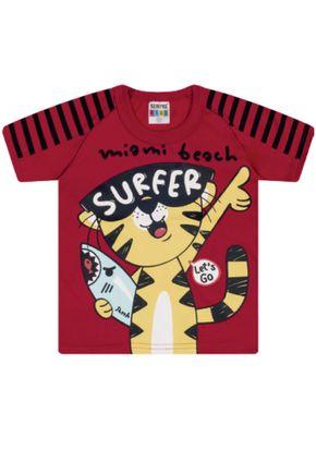 7347 vermelho camiseta intantil tigre