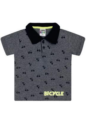 7349 mescla escuro camiseta polo intantil