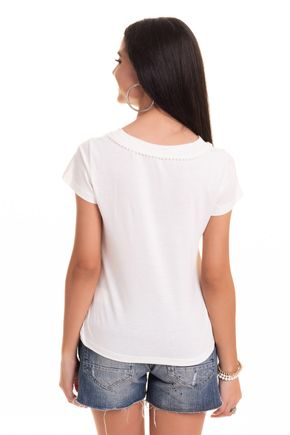 2569 24 tpd 4069 blusa feminina em viscose com pompom decote p a gg