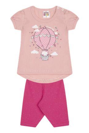 7306 rosa nude conjunto infantil feminino bermuda ciclista