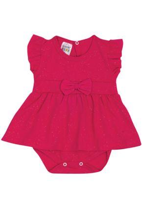 7308 pink body com saia infantil menina com saia