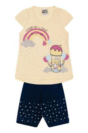 7333 amarelo conjunto infantil feminino nuvem