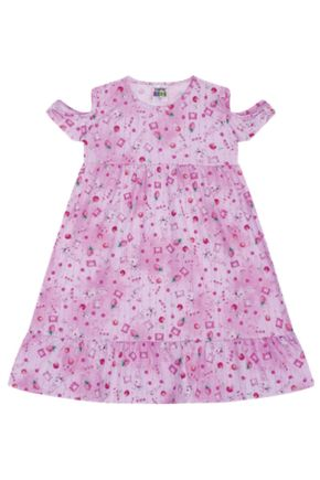 7378 rosa vestido infantil menina