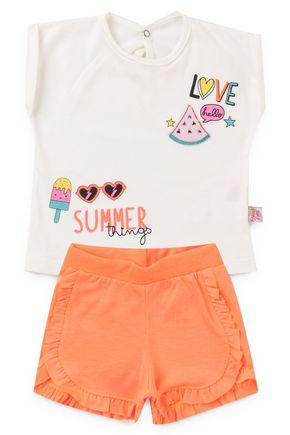 6170 cibjunto infantil frutas e sorvete summer love neon florecente 6