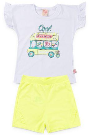 6186 conjunto infantil blusa e shorte neon onibus 3