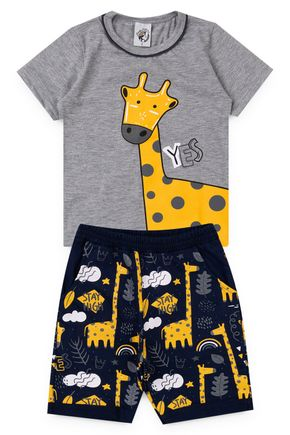 0129 conjunto menino girafas bermuda moletom 1