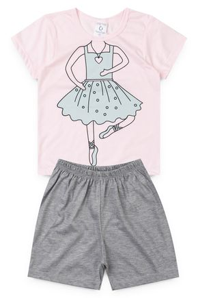 10125 pijama infantil feminino bailarina 4